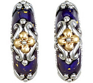 Barbara Bixby Sterling & 18K Enamel Earrings - J379298