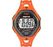 Timex Mens Ironman Sleek 30 Orange Strap Watch - J379398