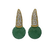 Judith Ripka 14K Clad Gemstone & Diamonique Earrings - J382398