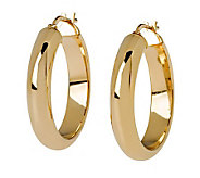 Veronese 18K Clad 1 Wedding Band Hoop Earrings - J299099