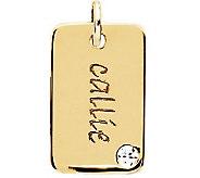 Posh Mommy 18K Gold-Plated Mini Dog Tag Sim Birthstone Pendan - J300099