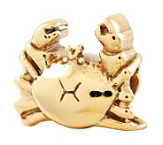 Prerogatives 14K Yellow Gold-Plated Sterling Crab Bead - J302699