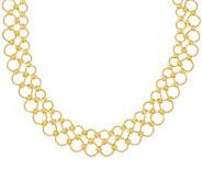 Judith Ripka Verona Sterling 14K Clad Multi-circle Necklace 56.0g - J331599