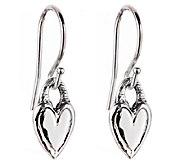 Hagit Sterling Petite Heart Dangle Earrings - J340699