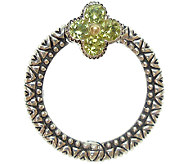 Barbara Bixby Sterling & 18K Peridot Opening Circle Link - J340799