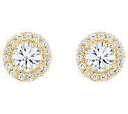 Round Diamond Halo Earrings, 14K Yellow, 3/4 cttw, by Affinity - J344999