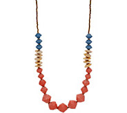 31 Bits Multi-Color Beaded Cobblestone Necklace - J349299
