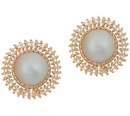 Imperial Gold Cultured Mabe Pearl Stud Earrings, 14K Gold - J352299