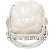 Stephen Dweck Sterling Silver Carved Mother of Pearl Ring - J354899