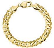 14K Gold Mens 9 Beveled Curb Link Bracelet, 37.3g - J384399