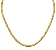 18 Oval Wheat Chain Necklace, 14K Gold, 8.4g - J384899