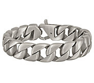 Steel by Design Mens 8-1/2 Brushed Curb LinkBracelet - J385499