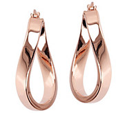 Bronzo Italia 1 Polished Wave Hoop Earrings - J390499