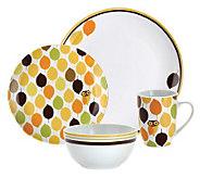 Rachael Ray Little Hoot 16-Piece Dinnerware Set - K297300