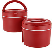 Set of (2) 10-cup Thermal Spill-proof Containers with Handles - K45700