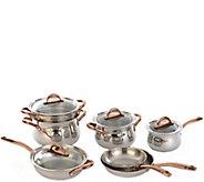 BergHOFF Ouro Cookware Set w/ Rosetone Handles& Glass Lids - K305501