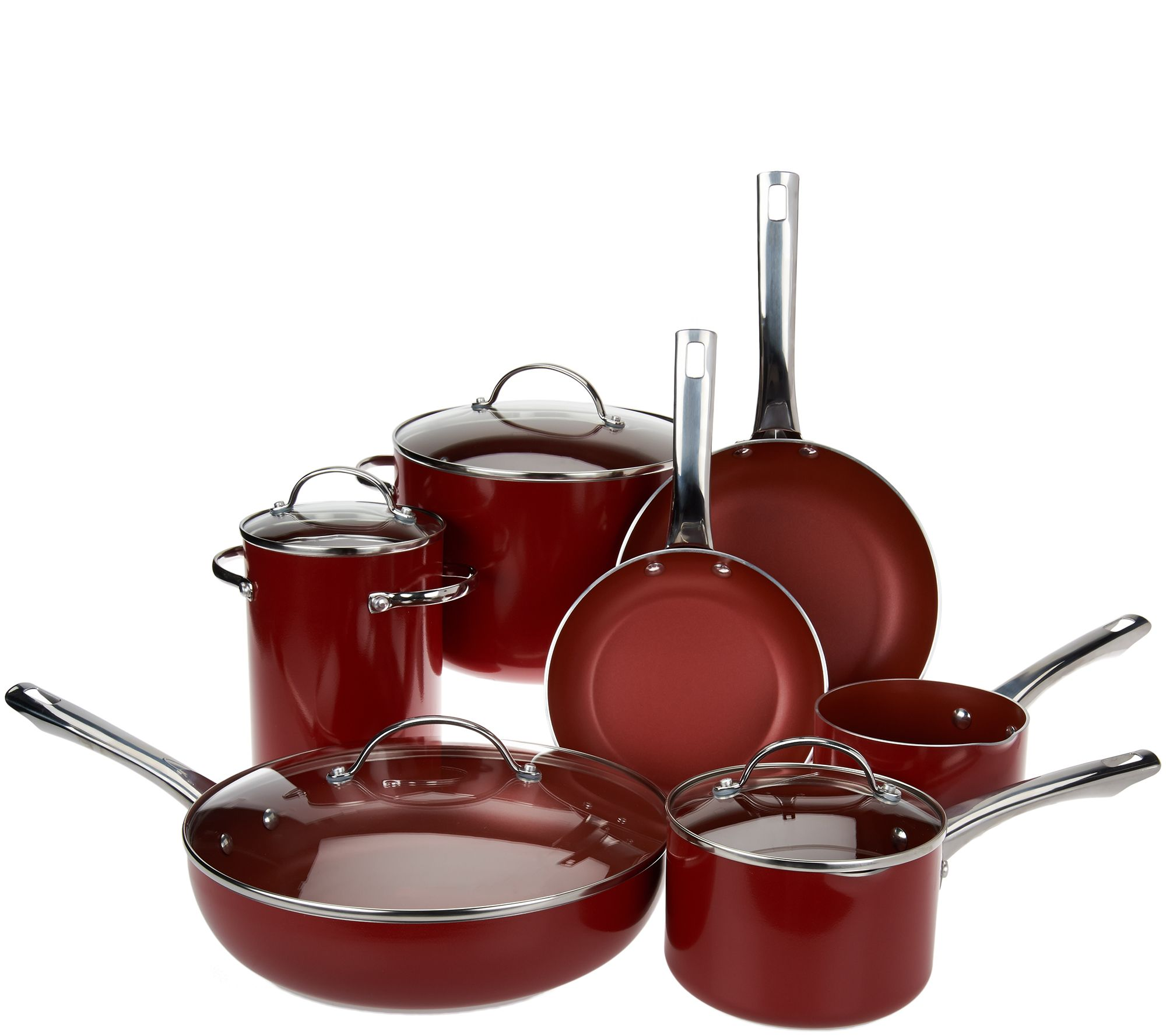 12pc Porcelain Enamel Cookware Set