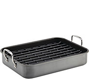 Rachael Ray Hard-Anodized Nonstick Roaster w/ Dual-Height Rack - K375201
