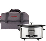 KitchenAid 6 Quart Programmable Slow Cooker with Travel Bag - K45601