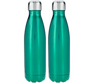 Primula Set of 2 17oz. Stainless Steel Hydration Bottles - K45801