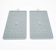 Set of 2 Silicone Drying Mats - K48101
