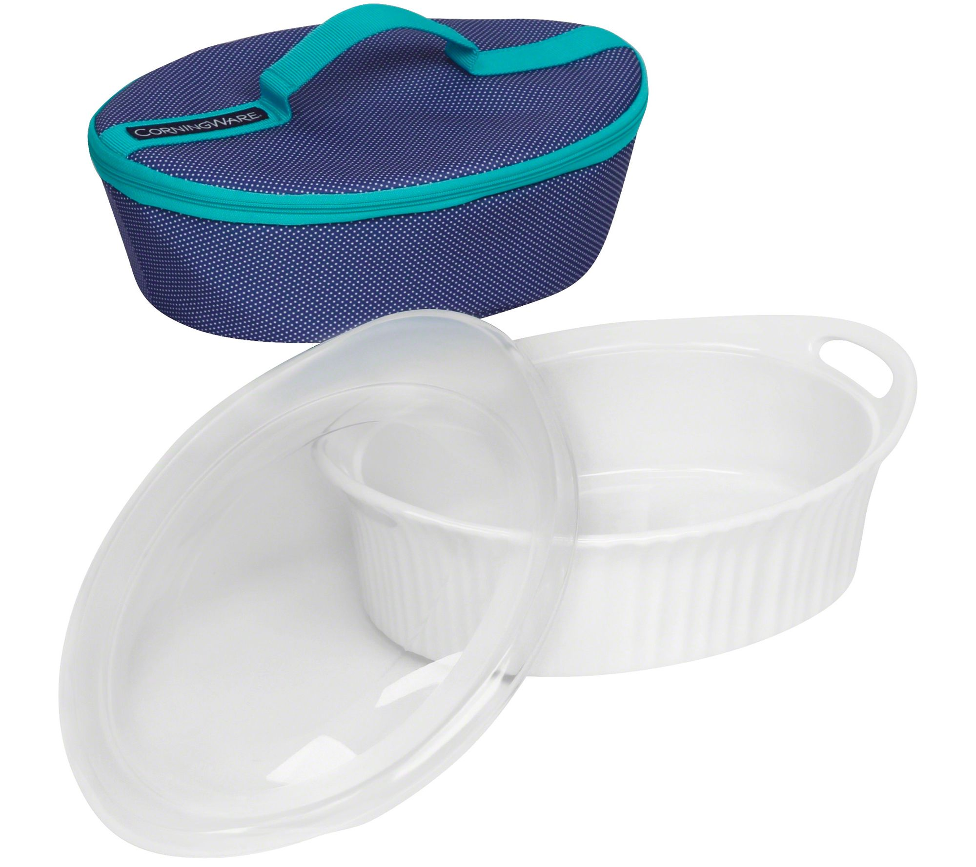 CorningWare French White 25qt Oval Bakeware with Travel Bag Page