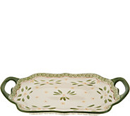 Temp-tations Old World 18 Scalloped Tray with Handles - K46302