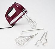 KitchenAid 9-speed Digital Hand Mixer w/ Wire Whisk & Blender Rod - K47602