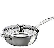 Le Creuset Stainless Steel 3.5-qt Saucier Pan with Lid - K303604
