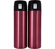 Lock & Lock Set of 2 16oz. Lightweight Stainless Steel Tumblers - K45804