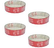 Temp-tations Floral Lace Set of 4 Mini Quiche Bakers - K379705