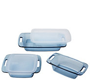 Pyrex Easy Grab 5-Piece Atlantic Blue BakewareSet w/ 2 Lids - K305906