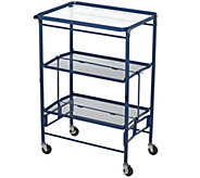 Temp-tations Etched Glass Top Collapsible Kitchen Cart - K47506