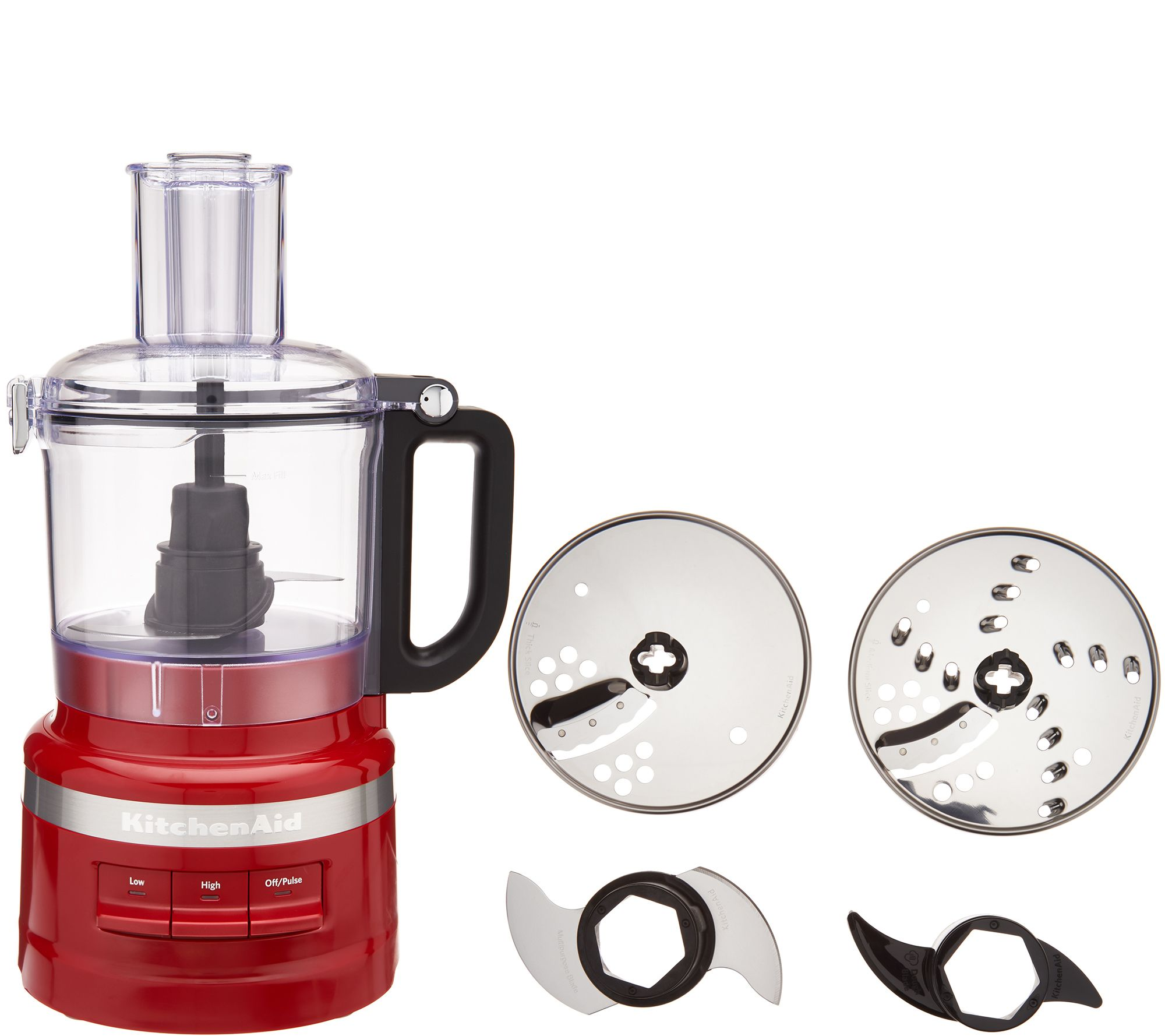Kitchenaid 7 Cup Food Processor Plus With In Unit Blade Storage Qvc Com