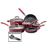 Farberware Millennium Aluminum 12-Piece Cookware Set - Red - K131007