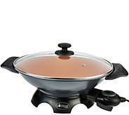 Gotham Steel Aluminum Nonstick Electric Wok w/ Ceramic Coating - K44907