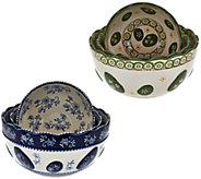 Temp-tations Old World or Floral Lace Set of 3 Nesting Bowls - K43908