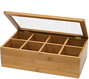 Lipper Bamboo & Acrylic Tea Box - K306609