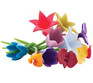 Trudeau Twisty Floral Wine Charms - K300310