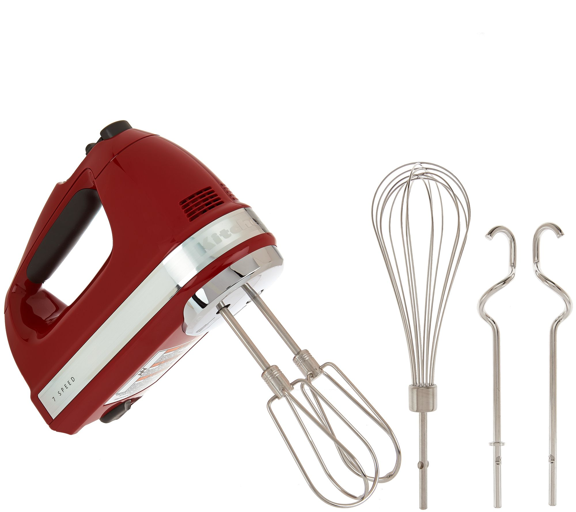 As Is Kitchenaid 7 Sd Digital Hand Mixer With Dough Hooks Qvc