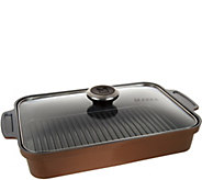 Maker Homeware Rectangular Ceramic Steam Grill Pan - K44310