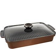 Maker Homeware Rectangular Ceramic Steam Grill Pan - K44310