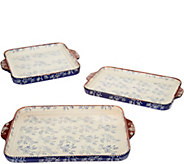 Temp-tations Floral Lace Deep Dish Lid-It Bakeware Set - K48310