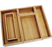 Lipper Bamboo Organizer Boxes, 5-pc. Set - K306611