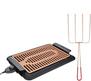 Gotham Steel Deluxe XL Smoke-less Grill with Quad Kabob - K47511