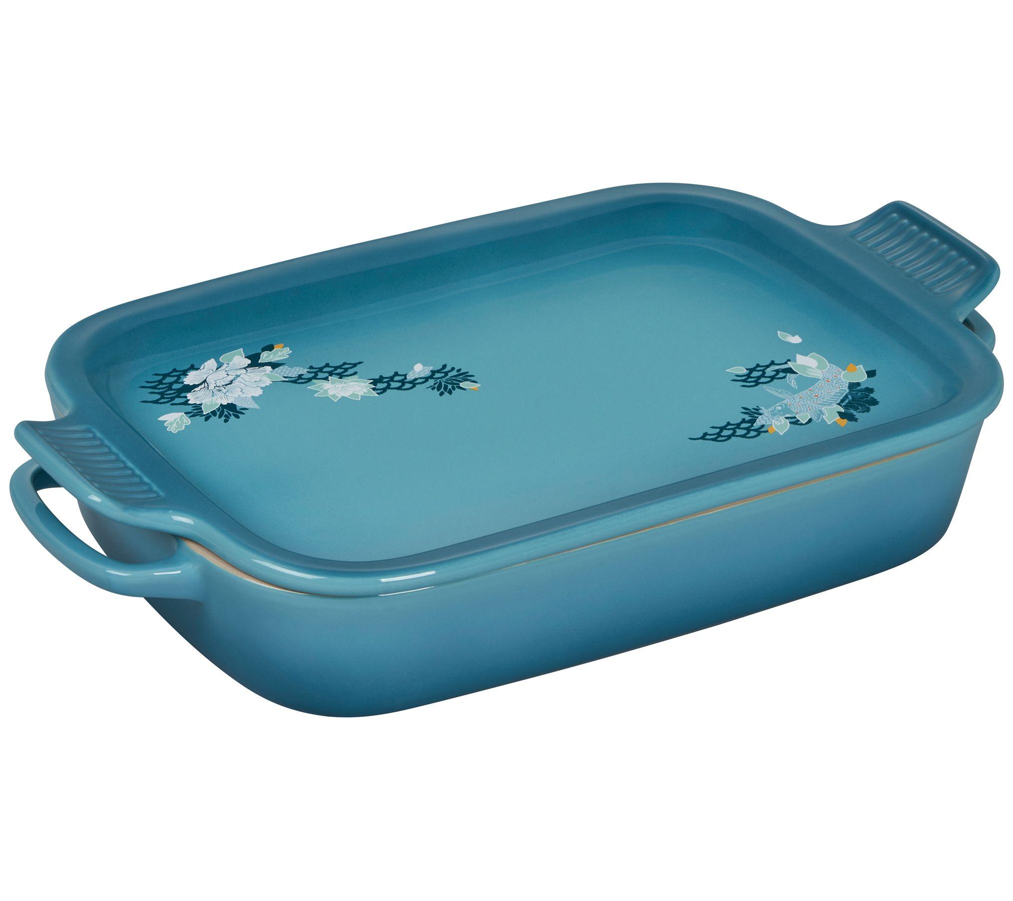 Le Creuset Lotus Rectangular Stoneware Dish with Platter Lid - QVC.com
