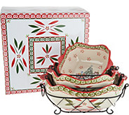 Temp-tations Holiday 6pc Baking & Serving Set with Gift Box - K46113