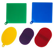 Cooks Essentials Set of 5 Silicone Scrubbers - K47213