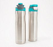 Contigo Set of (2) 24-oz Autoseal Stainless Steel Water Bottles - K48114