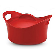 Rachael Ray Stoneware 2.75 qt Covered Round Casserole - Red - K131215